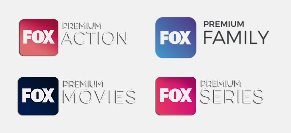 FOX Premium Action, FOX Premium Family, FOX Premium Movies, FOX Premium Series.