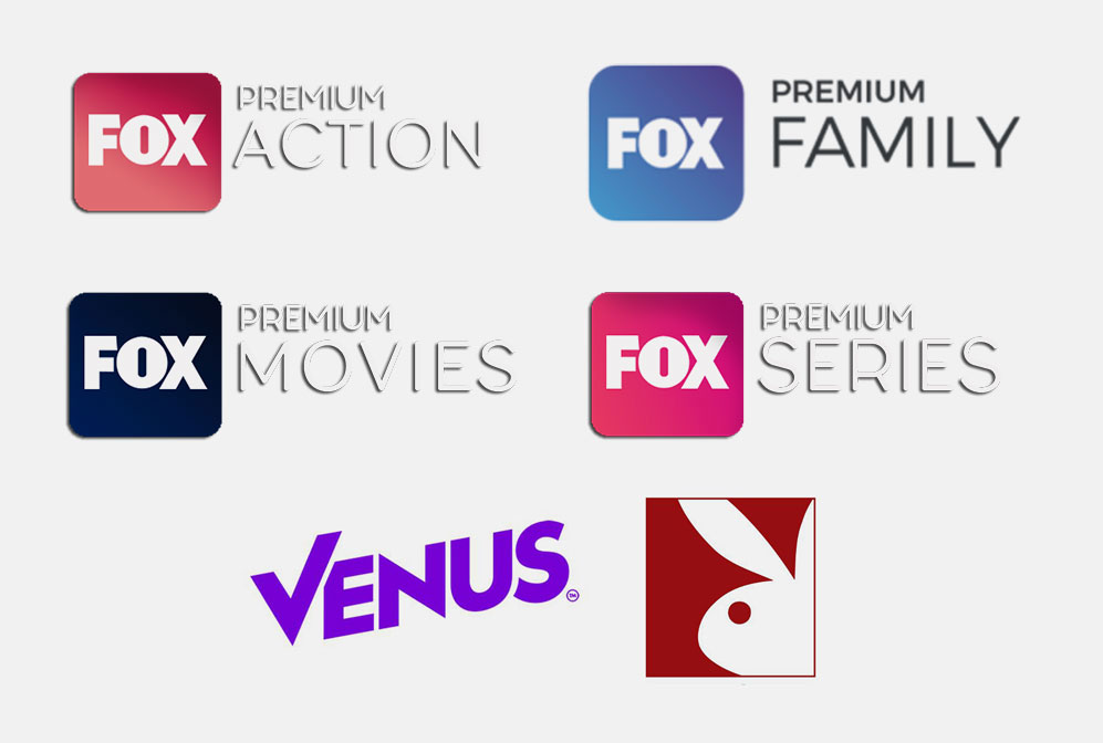 FOX Premium Action, FOX Premium Family, FOX Premium Movies, FOX Premium Series.